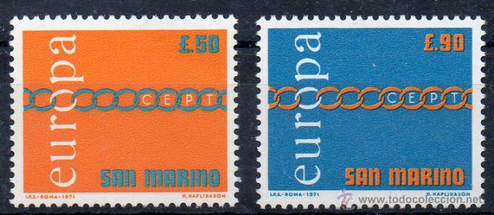 SAN MARINO AÑO 1971 YV 782/83*** EUROPA (Sellos - Extranjero - Europa - Otros paises)