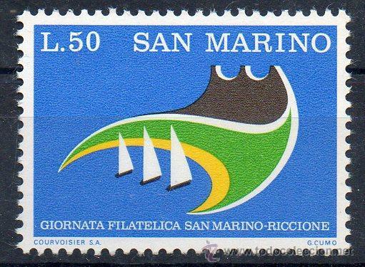 SAN MARINO AÑO 1974 YV 875*** JORNADAS FILATÉLICAS SAN MARINO - RICCIONE (Sellos - Extranjero - Europa - Otros paises)