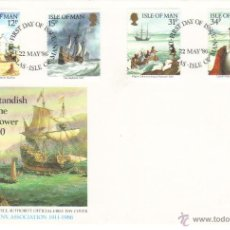 Sellos: ISLA DE MAN SOBRE PRIMER DIA 1986 MYLES STANDISH MAYFLOWER SPD. Lote 43752822