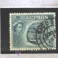 Sellos: CHIPRE 1960 - SG NRO. 194 - USADO. Lote 44092407
