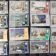 Sellos: GIBRALTAR. 239/264 Y 267/70 VISTAS DE GIBRALTAR DEL S. XIX Y DEL S. XX**. 1971. SELLOS NUEVOS Y NUM. Lote 44794834