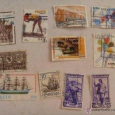 Sellos: LOTE DE 11 SELLOS DE EUROPA : ESPAÑA , ITALIA , BELGICA Y SUECIA.. Lote 45556034