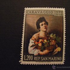 Sellos: PINTURA. SAN MARINO Nº YVERT 505*** AÑO 1960. 350 ANIVERSARIO MUERTE DE CARAVAGGIO. Lote 46215199