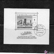 Sellos: CHECOSLOVAQUIA - AÑO 1967 Nº YVERT HOJA BLOQUE 30 - EXPO. INTERNACIONAL MONTREAL - USADOS. Lote 46837805