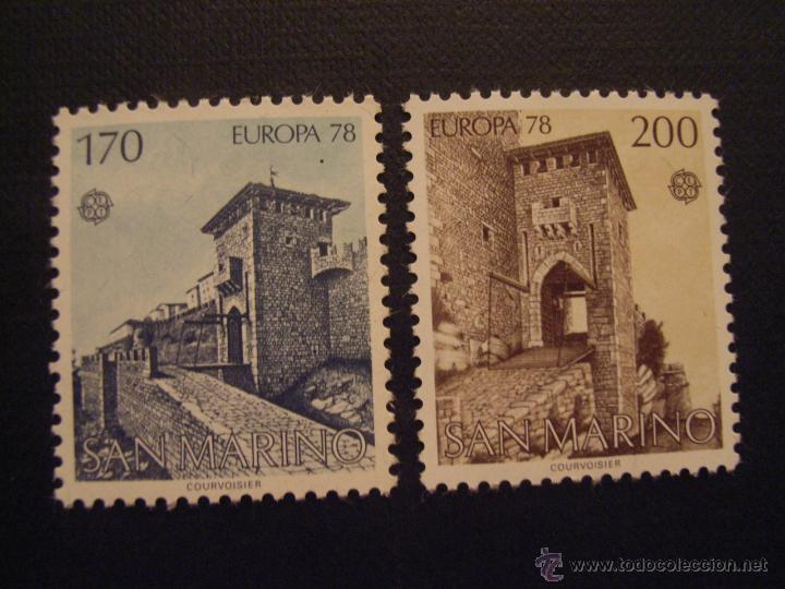 SAN MARINO Nº YVERT 955/6*** AÑO 1978. EUROPA. MONUMENTOS (Sellos - Extranjero - Europa - Otros paises)