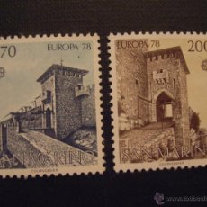 Sellos: SAN MARINO Nº YVERT 955/6*** AÑO 1978. EUROPA. MONUMENTOS. Lote 47743266