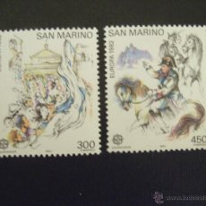 Sellos: SAN MARINO Nº YVERT 1055/6*** AÑO 1982. EUROPA. HECHOS HISTORICOS. Lote 48326665