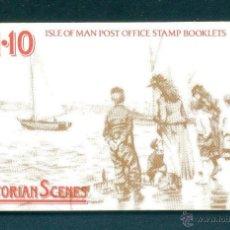 Sellos: ISLA DE MAN 1987 CARNET DOBLE COMPLETO NUEVO VICTORIA LUJO MNH *** SC. Lote 48935247