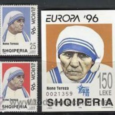 Sellos: ALBANIA CEPT EUROPA 1996 SHQIPERIA NUEVO + HB LUJO MNH *** SC. Lote 49584988