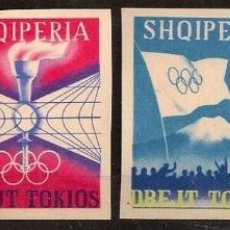 Sellos: ALBANIA ANTIGUOS SELLOS SIN DENTAR NUEVOS LUJO JUEGOS DE TOKIO 1964 685-88 SHQIPERIA MNH ***. Lote 48468155