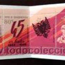 Sellos: ALBANIA SHQIPERIA 1989 45º ANIV. LIBERACION EN CARNET NUEVO LUJO MNH ***. Lote 49586328