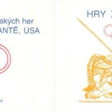 Sellos: REPUBLICA CHECA 1996 JJOO ATLANTA NUEVO LUJO CARNET MNH *** SC. Lote 49752791
