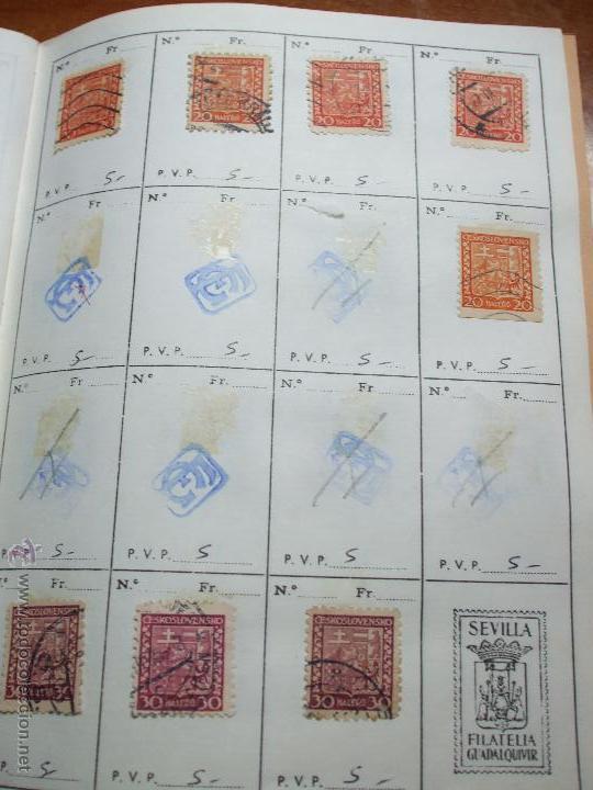 Sellos: .checoslovaquia 8 libretas aproximadamente 1020 sellos clasificados, diversas calidades + fotos - Foto 20 - 50673704