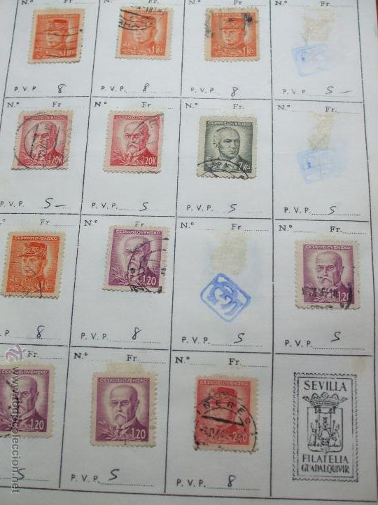 Sellos: .checoslovaquia 8 libretas aproximadamente 1020 sellos clasificados, diversas calidades + fotos - Foto 28 - 50673704