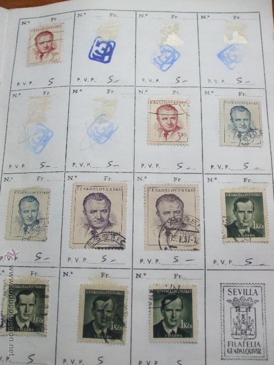 Sellos: .checoslovaquia 8 libretas aproximadamente 1020 sellos clasificados, diversas calidades + fotos - Foto 31 - 50673704
