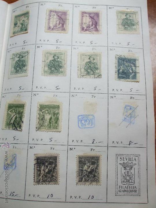 Sellos: .checoslovaquia 8 libretas aproximadamente 1020 sellos clasificados, diversas calidades + fotos - Foto 34 - 50673704
