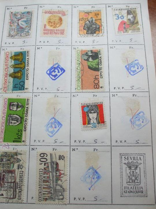Sellos: .checoslovaquia 8 libretas aproximadamente 1020 sellos clasificados, diversas calidades + fotos - Foto 42 - 50673704