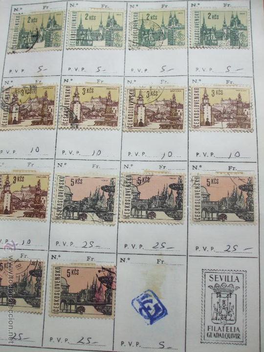 Sellos: .checoslovaquia 8 libretas aproximadamente 1020 sellos clasificados, diversas calidades + fotos - Foto 51 - 50673704