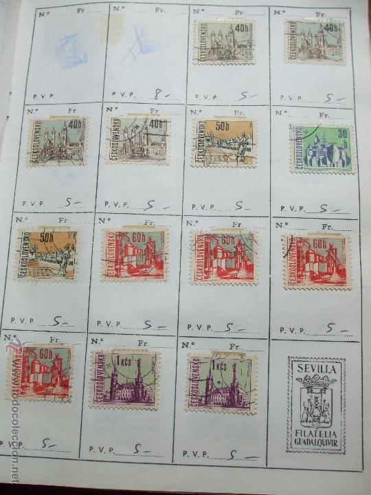Sellos: .checoslovaquia 8 libretas aproximadamente 1020 sellos clasificados, diversas calidades + fotos - Foto 54 - 50673704