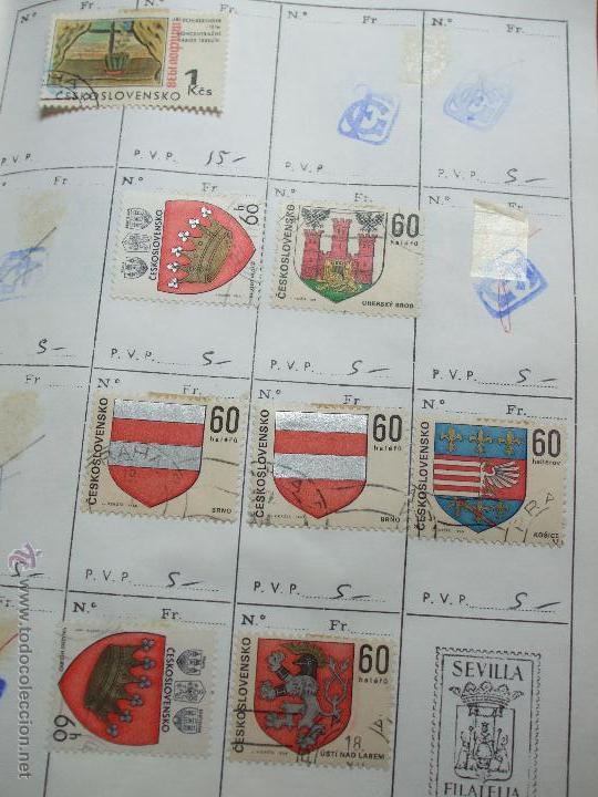Sellos: .checoslovaquia 8 libretas aproximadamente 1020 sellos clasificados, diversas calidades + fotos - Foto 61 - 50673704