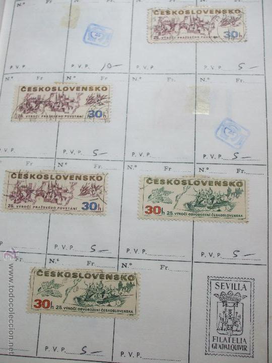 Sellos: .checoslovaquia 8 libretas aproximadamente 1020 sellos clasificados, diversas calidades + fotos - Foto 69 - 50673704