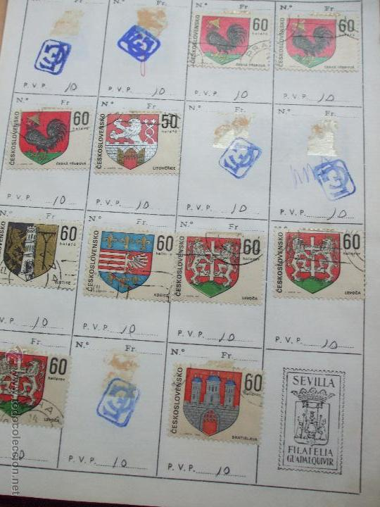 Sellos: .checoslovaquia 8 libretas aproximadamente 1020 sellos clasificados, diversas calidades + fotos - Foto 75 - 50673704