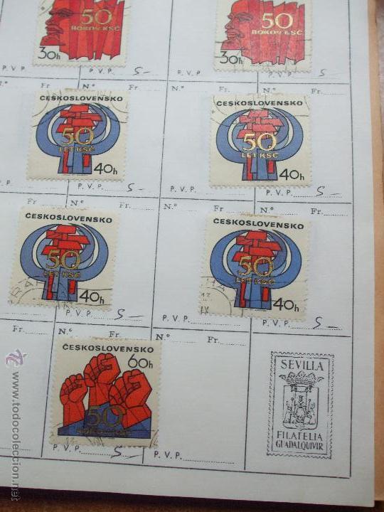 Sellos: .checoslovaquia 8 libretas aproximadamente 1020 sellos clasificados, diversas calidades + fotos - Foto 77 - 50673704