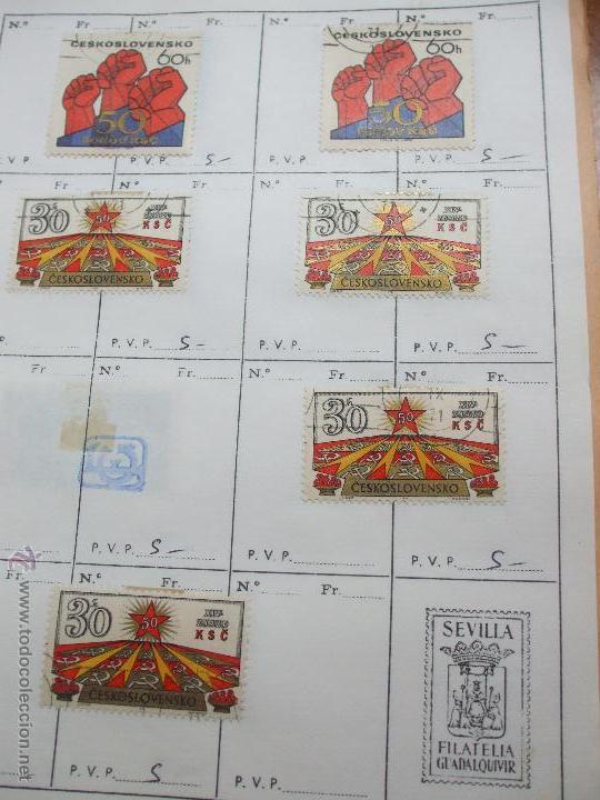 Sellos: .checoslovaquia 8 libretas aproximadamente 1020 sellos clasificados, diversas calidades + fotos - Foto 78 - 50673704