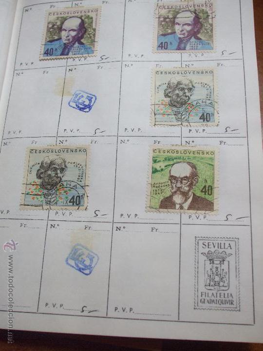 Sellos: .checoslovaquia 8 libretas aproximadamente 1020 sellos clasificados, diversas calidades + fotos - Foto 87 - 50673704