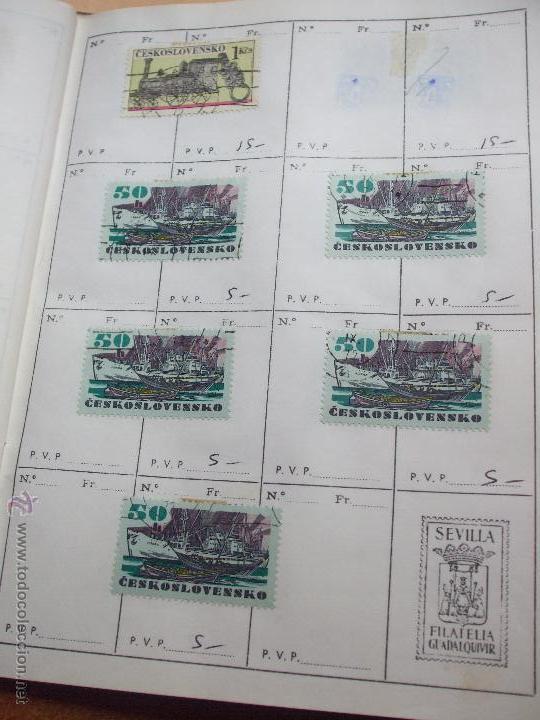 Sellos: .checoslovaquia 8 libretas aproximadamente 1020 sellos clasificados, diversas calidades + fotos - Foto 89 - 50673704