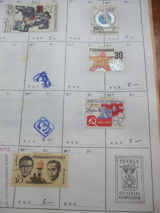 Sellos: .checoslovaquia 8 libretas aproximadamente 1020 sellos clasificados, diversas calidades + fotos - Foto 92 - 50673704