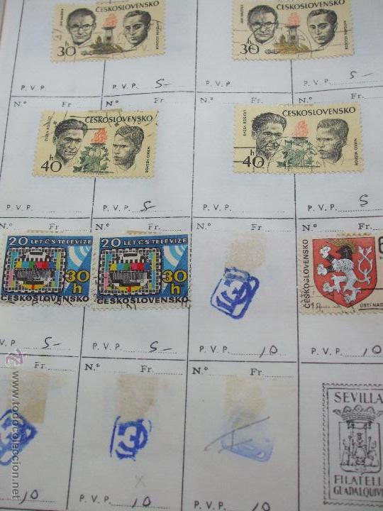 Sellos: .checoslovaquia 8 libretas aproximadamente 1020 sellos clasificados, diversas calidades + fotos - Foto 93 - 50673704
