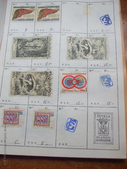 Sellos: .checoslovaquia 8 libretas aproximadamente 1020 sellos clasificados, diversas calidades + fotos - Foto 94 - 50673704