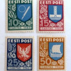 Sellos: SELLOS ESTONIA 1940. NUEVOS CON CHARNELA.. Lote 50955175