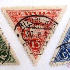 Sellos: SELLOS LETONIA 1931. USADOS. AVIONES.. Lote 50955720