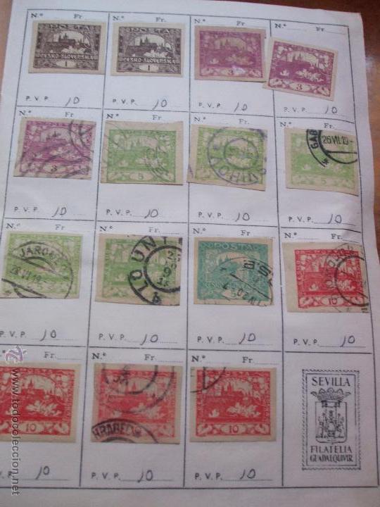 Sellos: .checoslovaquia 8 libretas aproximadamente 1540 sellos clasificados, diversas calidades + fotos - Foto 2 - 51002279