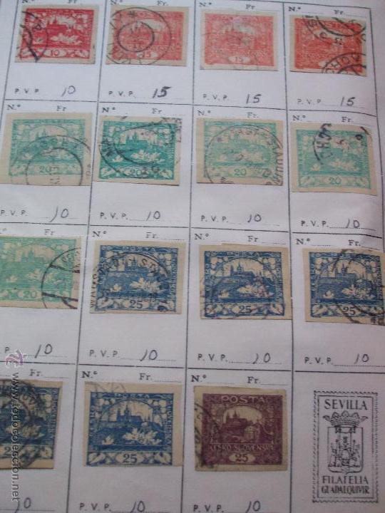 Sellos: .checoslovaquia 8 libretas aproximadamente 1540 sellos clasificados, diversas calidades + fotos - Foto 3 - 51002279