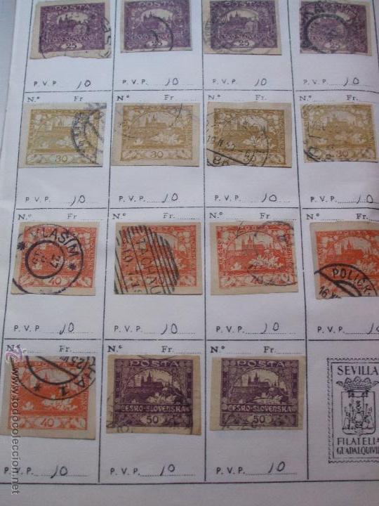 Sellos: .checoslovaquia 8 libretas aproximadamente 1540 sellos clasificados, diversas calidades + fotos - Foto 4 - 51002279