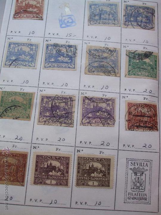 Sellos: .checoslovaquia 8 libretas aproximadamente 1540 sellos clasificados, diversas calidades + fotos - Foto 6 - 51002279