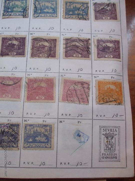 Sellos: .checoslovaquia 8 libretas aproximadamente 1540 sellos clasificados, diversas calidades + fotos - Foto 8 - 51002279