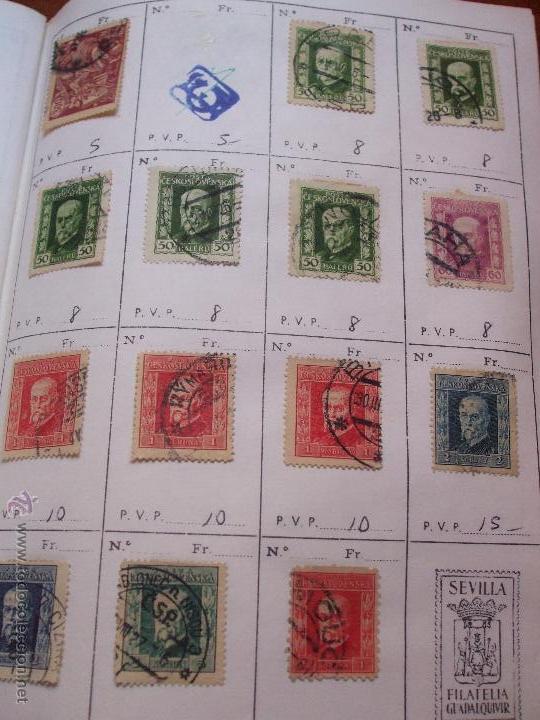 Sellos: .checoslovaquia 8 libretas aproximadamente 1540 sellos clasificados, diversas calidades + fotos - Foto 16 - 51002279