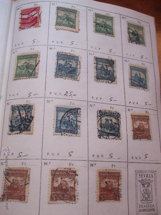 Sellos: .checoslovaquia 8 libretas aproximadamente 1540 sellos clasificados, diversas calidades + fotos - Foto 20 - 51002279