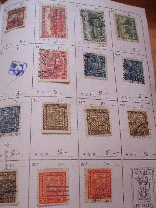 Sellos: .checoslovaquia 8 libretas aproximadamente 1540 sellos clasificados, diversas calidades + fotos - Foto 21 - 51002279