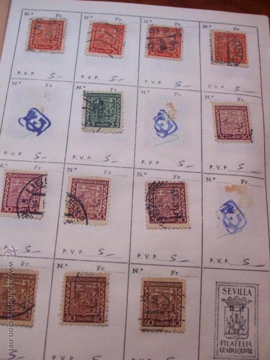 Sellos: .checoslovaquia 8 libretas aproximadamente 1540 sellos clasificados, diversas calidades + fotos - Foto 22 - 51002279