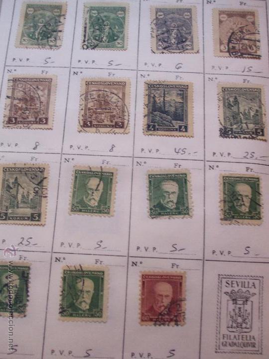 Sellos: .checoslovaquia 8 libretas aproximadamente 1540 sellos clasificados, diversas calidades + fotos - Foto 23 - 51002279