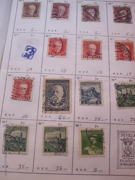 Sellos: .checoslovaquia 8 libretas aproximadamente 1540 sellos clasificados, diversas calidades + fotos - Foto 24 - 51002279