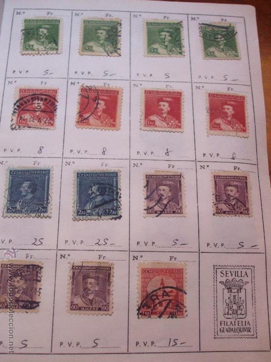 Sellos: .checoslovaquia 8 libretas aproximadamente 1540 sellos clasificados, diversas calidades + fotos - Foto 25 - 51002279
