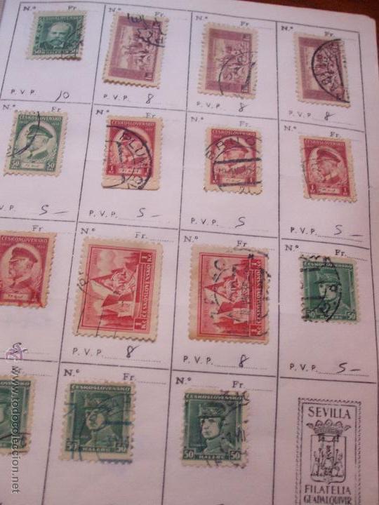 Sellos: .checoslovaquia 8 libretas aproximadamente 1540 sellos clasificados, diversas calidades + fotos - Foto 27 - 51002279