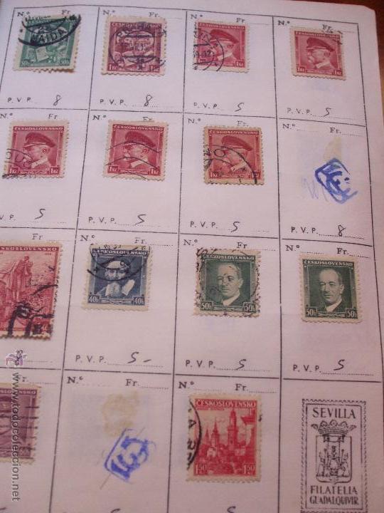 Sellos: .checoslovaquia 8 libretas aproximadamente 1540 sellos clasificados, diversas calidades + fotos - Foto 28 - 51002279