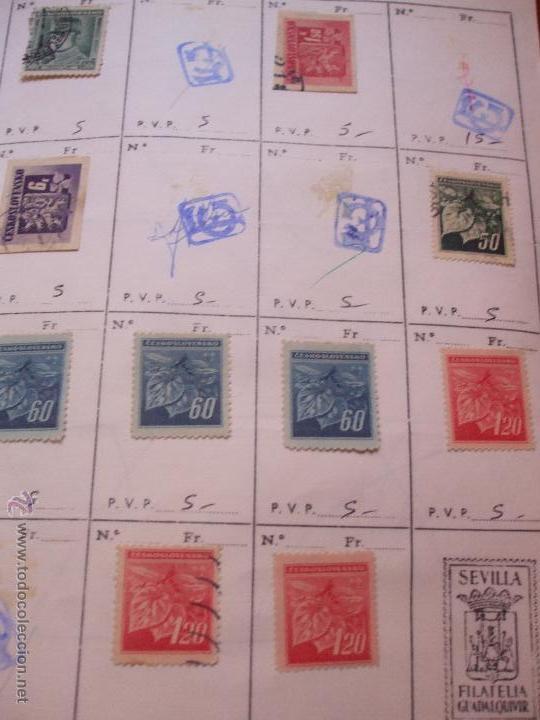 Sellos: .checoslovaquia 8 libretas aproximadamente 1540 sellos clasificados, diversas calidades + fotos - Foto 30 - 51002279